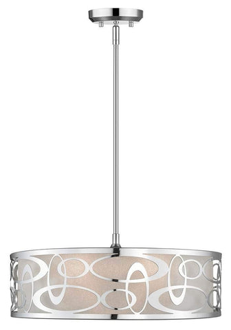 4-Light Contemporary Pendant in Chrome Finish