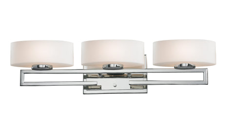 Z-Lite 3011-3V-LED Cetynia Collection Chrome Finish 3 Light Vanity Light