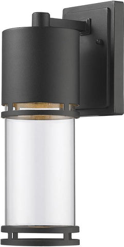 Z-Lite 553M-BK-LED Outdoor LED Wall Light Luminata Collection Clear Glass Finish - ZLiteStore
