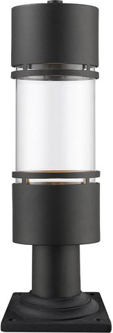 Z-Lite 553PHB-533PM-BK-LED Outdoor LED Post Mount Light Luminata Collection Clear Glass Finish - ZLiteStore