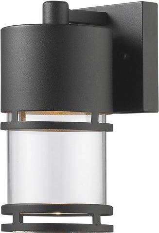 Z-Lite 553S-BK-LED Outdoor LED Wall Light Luminata Collection Clear Glass Finish - ZLiteStore