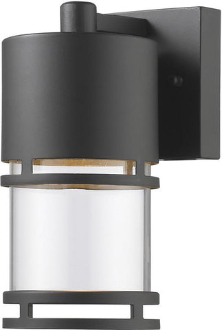 Z-Lite 553S-ORBZ-LED Outdoor LED Wall Light Luminata Collection Clear Glass Finish - ZLiteStore