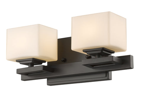 Z-Lite 1914-2V-BRZ-LED Cuvier Collection Bronze Finish 2 Light Vanity Light