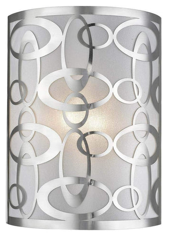 2-Light Wall Sconce in Brushed Nickel Finish