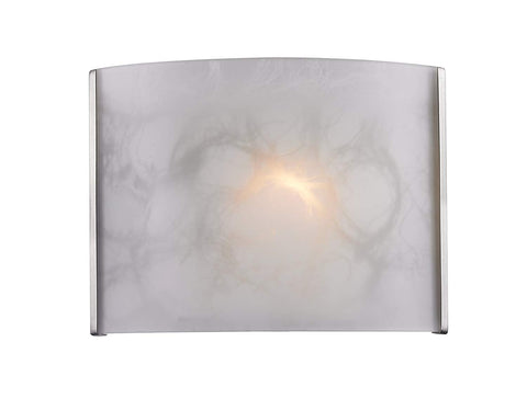 Z-Lite 1122-1S-BN 1-Light Wall Sconce Glass Shade Material, White Cloud