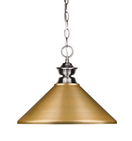 Z-Lite 100701BN-MSG 1 Light Pendant 1