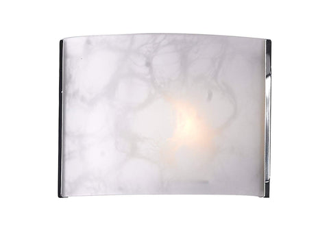 Z-Lite 1122-1S-CH 1-Light Wall Sconce Chrome Frame Finish, White Cloud