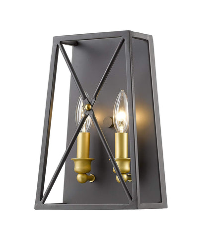 Z-Lite 447-2S-BZGD 2 Light Wall Sconce 2