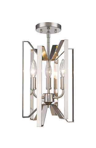 Z-Lite 4000SF-BN 3 Light Semi Flush Mount 3