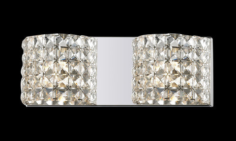 Z-Lite 867-2V-LED Panache Collection Chrome Finish 2 Light Crystal Vanity Light