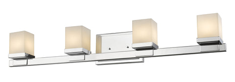 Z-Lite 1913-4V-CH-LED Cadiz Collection Chrome Finish 4 Light Vanity Light