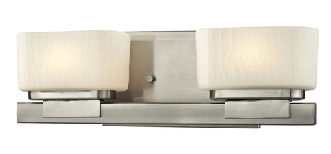 Z-Lite 3019-2V-LED Gaia Collection Brushed Nickel Finish 2 Light Vanity Light