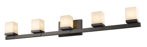 Z-Lite 1913-5V-BRZ-LED Cadiz Collection Bronze Finish 5 Light Vanity Light