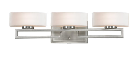 Z-Lite 3010-3V-LED Cetynia Collection Brushed Nickel Finish 3 Light Vanity Light