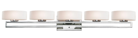 Z-Lite 3011-5V-LED Cetynia Collection Chrome Finish 5 Light Vanity Light