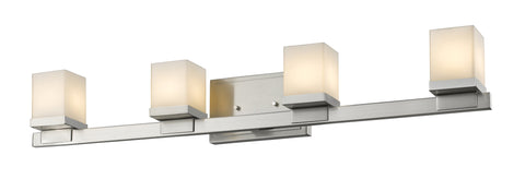 Z-Lite 1913-4V-BN-LED Cadiz Collection Brushed Nickel Finish 4 Light Vanity Light