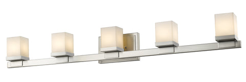 Z-Lite 1913-5V-BN-LED Cadiz Collection Brushed Nickel Finish 5 Light Vanity Light