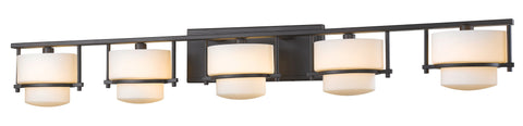 Z-Lite 3030-5V-BRZ-LED Porter Collection Bronze Finish 5 Light Vanity Light