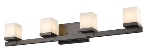 Z-Lite 1913-4V-BRZ-LED Cadiz Collection Bronze Finish 4 Light Vanity Light
