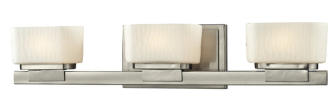 Z-Lite 3019-3V-LED Gaia Collection Brushed Nickel Finish 3 Light Vanity Light