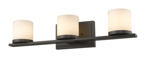 Z-Lite 1912-3V-BRZ-LED Nori Collection Bronze Finish 3 Light Vanity Light