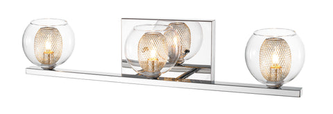 Z-Lite 905-3V-LED Auge Collection Chrome Finish 3 Light Vanity