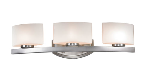 Z-Lite 3013-3V-LED Galati Collection Brushed Nickel Finish 3 Light Vanity Light