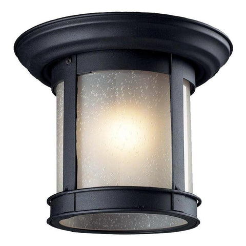 Z-Lite 514f-bk Outdoor Flush Mount Collection Outdoor Flush Mount Light - ZLiteStore