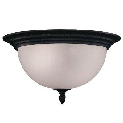 Z-Lite 510f-bk Outdoor Flush Mount Collection Outdoor Flush Mount Light - ZLiteStore