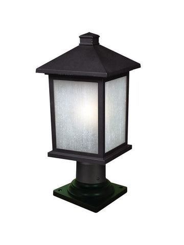 Z-Lite 507phm-533pm-bk Holbrook Collection Outdoor Post Light - ZLiteStore