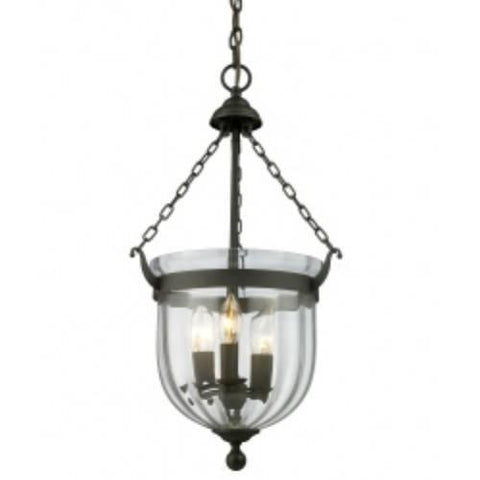 Z-Lite Warwick Collection Bronze Finish Three Light Pendant - ZLiteStore
