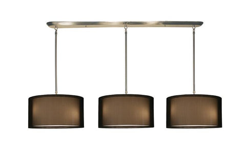 Z-Lite Nikko Collection Brushed Nickel/Black Finish Nine Light Island/Billiard - ZLiteStore