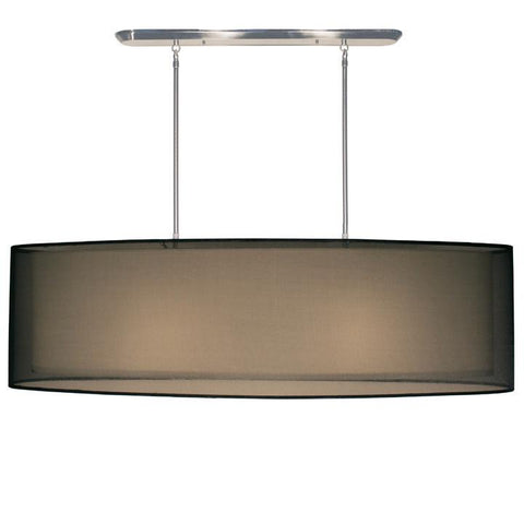 Z-Lite Nikko Collection Brushed Nickel/Black Finish Four Light Island/Billiard - ZLiteStore