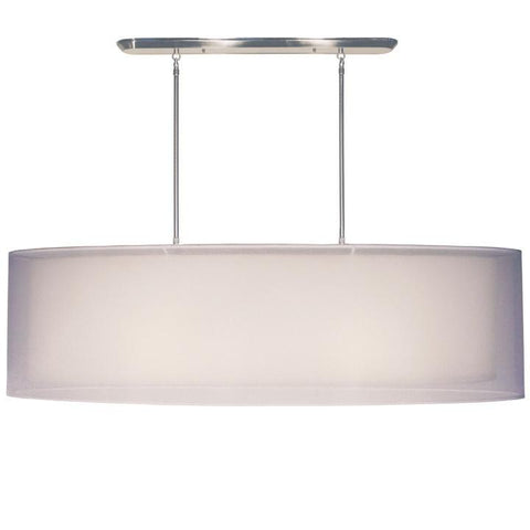 Z-Lite Nikko Collection Brushed Nickel/White Finish Four Light Island/Billiard - ZLiteStore