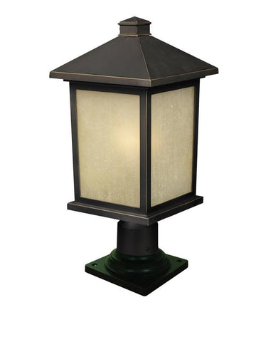 Z-Lite 507phb-533pm-orb Holbrook Collection 1 Light Outdoor Post Mount Light - ZLiteStore