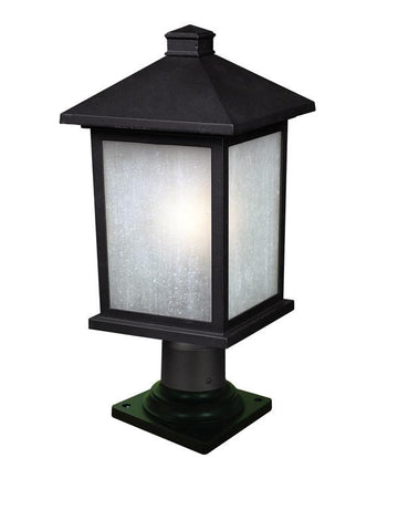 Z-Lite 507phb-533pm-bk Holbrook Collection 1 Light Outdoor Post Mount Light - ZLiteStore