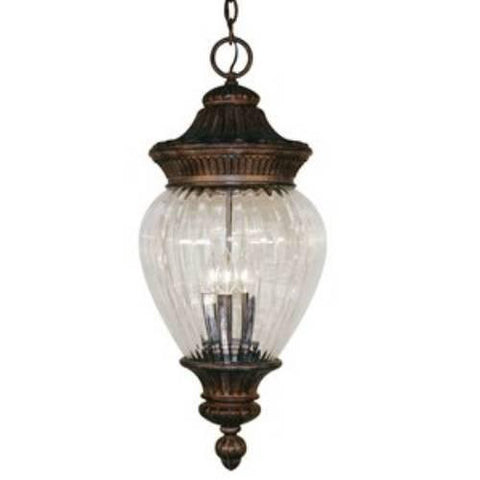 Z-Lite Devonshire Collection Weathered Bronze Finish Outdoor Chain Light - ZLiteStore
