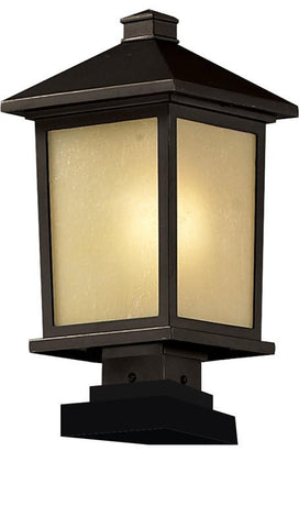 Z-Lite 537phb-sqpm-orb Holbrook Collection Outdoor Post Light - ZLiteStore