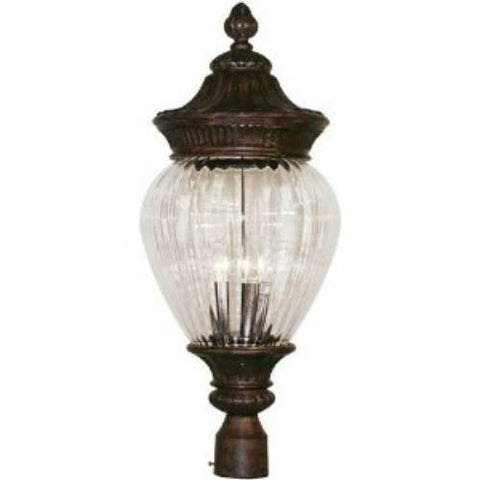 Z-Lite Devonshire Collection Weathered Bronze Finish Outdoor Post Light - ZLiteStore