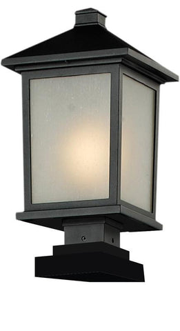 Z-Lite 537phb-sqpm-bk Holbrook Collection Outdoor Post Light - ZLiteStore