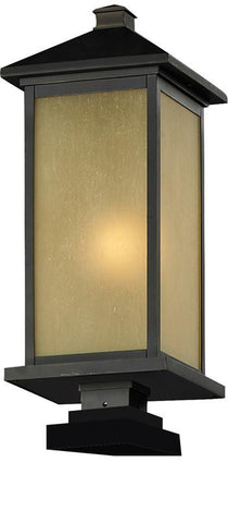 Z-Lite 548phb-sqpm-orb Vienna Collection Outdoor Post Light - ZLiteStore