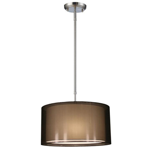 Z-Lite Nikko Collection Brushed Nickel/Black Finish Three Light Pendant - ZLiteStore