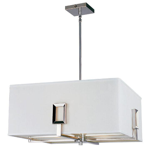 Z-Lite Quadrate Collection Polished Stainless Steel Finish Three Light Pendant - ZLiteStore