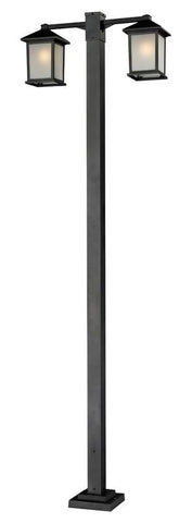Z-Lite 507-2-536p-bk Holbrook Collection 2 Head Outdoor Post - ZLiteStore