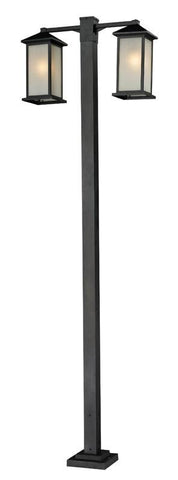 Z-Lite 547-2-536p-bk Vienna Collection 2 Head Outdoor Post - ZLiteStore