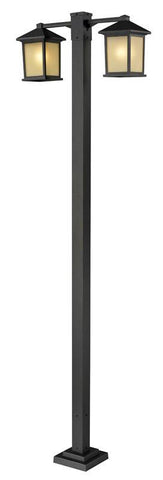 Z-Lite 507-2-536p-orb Holbrook Collection 2 Head Outdoor Post - ZLiteStore