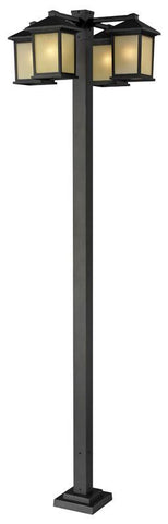 Z-Lite 507-4-536p-orb Holbrook Collection 4 Head Outdoor Post - ZLiteStore