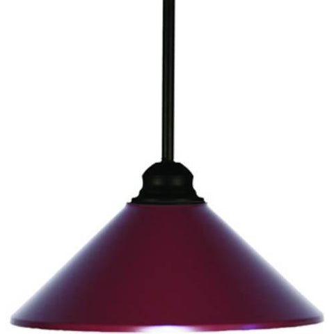 Z-Lite Pendant Lights Collection Matte Black/Dark Wine Finish One Light Pendant - ZLiteStore