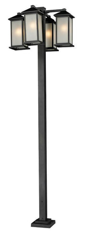 Z-Lite 547-4-536p-bk Vienna Collection 4 Head Outdoor Post - ZLiteStore