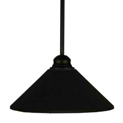 Z-Lite Pendant Lights Collection Matte Black Finish One Light Pendant - ZLiteStore